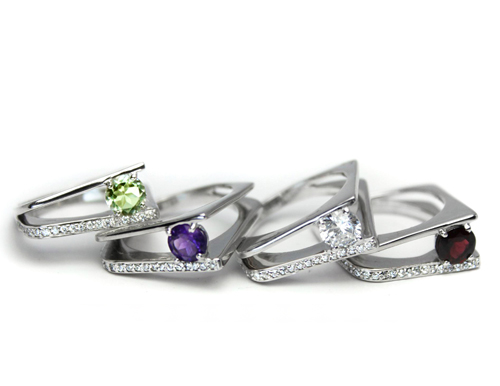 Eco-friendly silver with genuine gems